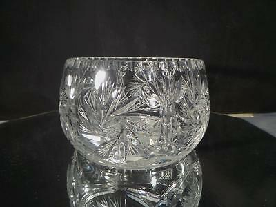 Spectacular! Brilliant Cut Glass Center Bowl Large Almost 5Lbs