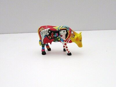 Cow Parade Hommage to Picowso's African Period by Annalie Dempsey small cow VGC