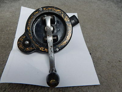 Antique Singer Sewing Machine Hand Crank Handle With Gold Floral Decals ~ 1894