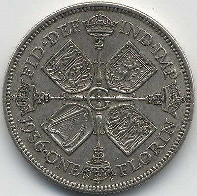 1936 George V Silver Florin***Collectors***(G3)