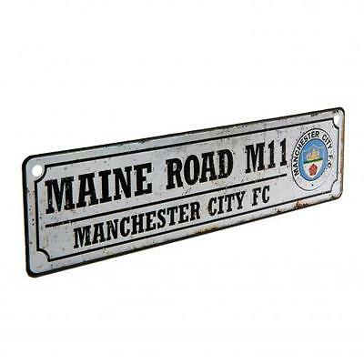 Manchester City Retro Metal Novelty Street Sign Maine Road M11  f21wirmc