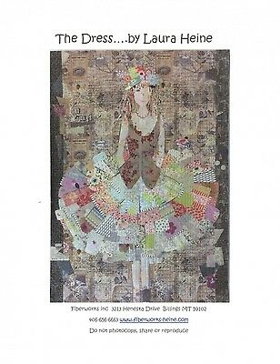 THE DRESS COLLAGE QUILT PATTERN, from Fiberworks INC, *NEW*