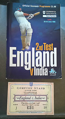 England vs India 2nd Test 1996