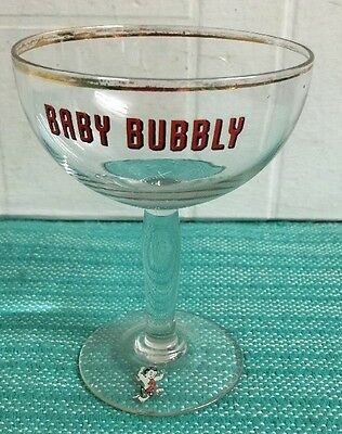 Vintage 1950's/60's Baby Bubbly Advertising Glass