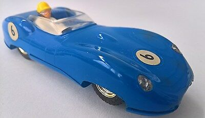 c1960's Vintage TRI-ANG SCALEXTRIC CAR - Lister Jaguar with Lights # No.6