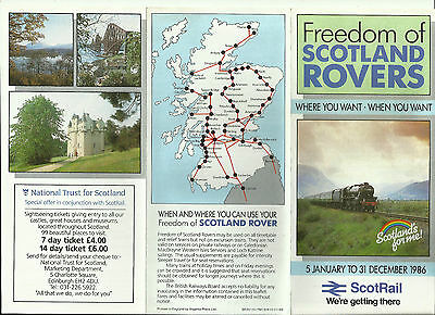 Freedom of Scotland Rovers - Leaflet - 1986