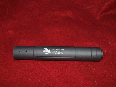 Navy Seal Team 200mm Suppressor Barrel Extension for Airsoft AEG GBB 14mm CCW
