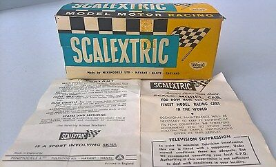 c1960's TRI-ANG SCALEXTRIC CAR - E/2 Aston Martin - BOX & INSTRUCTIONS ONLY