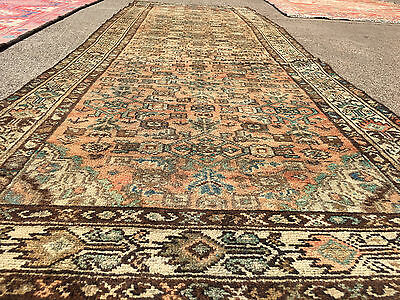 3x10 HAND KNOTTED PERSIAN IRAN HERIZ RUG RUNNER ANTIQUE WOVEN 3 x 10 wool 4 9 11