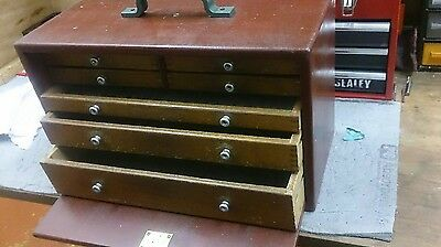 Vintage Wooden Tool Box or Chest - Beautiful Vintage toolmakers box