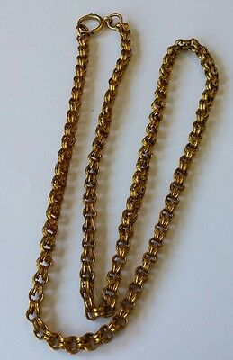 Antique Victorian Gold Filled Double Rolo Link Chain Necklace