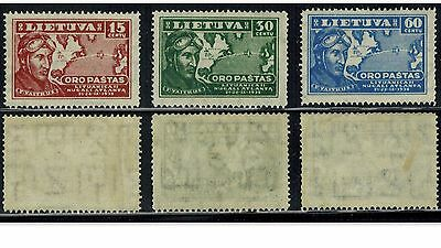 Lithuania 1936, Sc C85-C87, MNG, Full Set