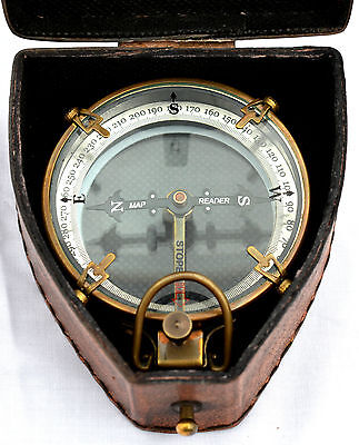 Antique Finish Brass Maritime Spencer & Co London 1905 Mirror Compass With Box