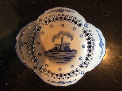 delft blue handpainted dish designed by ots
