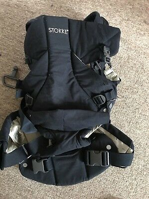 Stokke Mycarrier Deep Navy & Beige / Stone Front Baby Carrier £99 New