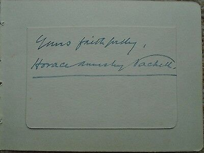 Horace Annesley Vachell - Writer/author - Signed
