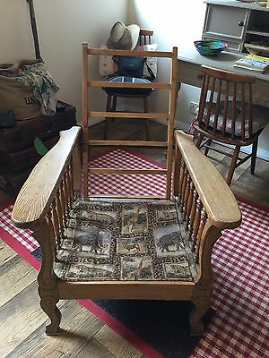 Arts and crafts  william morris style reclining arm chair