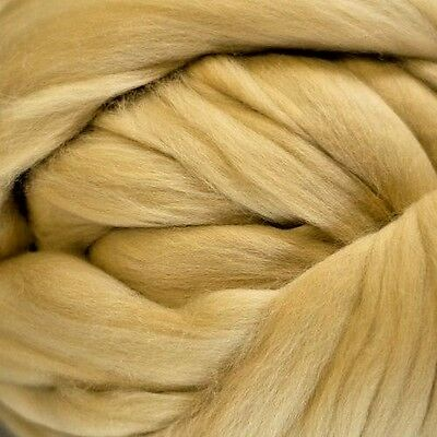 Merino Wool Top Roving Parchment 1 oz
