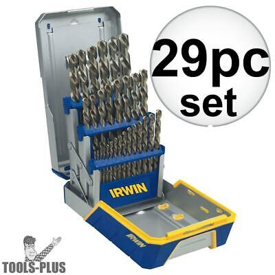 29 Piece Drill Bit Industrial Set-Cobalt M42 Irwin 3018002B New
