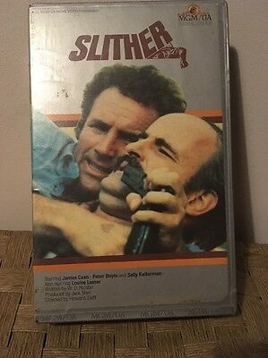 Slither. Rare VHS Pre Cert Uncertified MGM Embossed Big Box Ex Rental +Cast Card