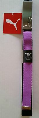 Puma Golf Womens Path Web Belt, Cut To Size, Purple Cactus Flower, New With Tags