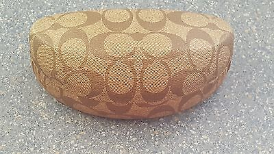Coach Large Brown Tan Sunglasses Case Only