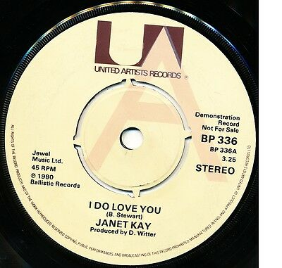 """JANET KAY """"I Do Love You"""" b/w D.ROY BAND """"Trench Town Skank (1980) UK Demo"""