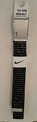 "NIKE GOLF the NIKE WEB BELT, WOMENS/SILVER FITS UP TO 42"", ADJUSTABLE, BRAND NEW"