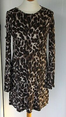 lovely leopard print tunic top size 12