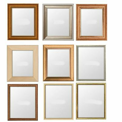 Picture Frame Narrow Photo Poster Frame Light Wood Pine Mahogany Silver Gold