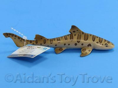 "Safari Ltd 274929 Leopard Shark Replica - 5"" Fish Figurine Sea Life Ocean + Tag"