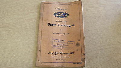 Ford Popular Parts Catalogue 1930's