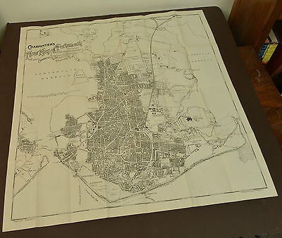 1920s Charpentier Folding Map of Portsmouth - St John's College Southsea