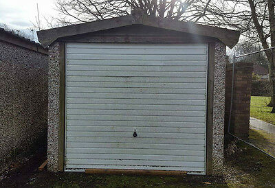 Concrete Sectional Garage with Pitched Roof (D)