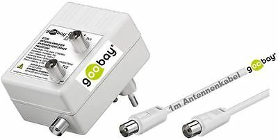 goobay TV Coaxial Cable Amplifier 47-862 MHz Antenna amplifiers 2x15dB