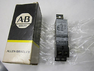 Allen Bradley 595-AB Auxiliary Contact 1NO 1NC Contacts NOS