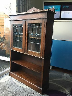 Antique bookcase with glass doors, collect from TW2