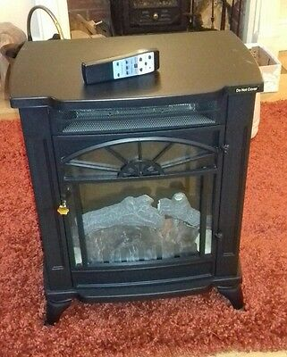 large traditional stove fire