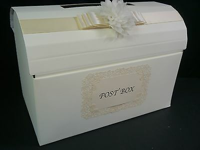 Wedding  post box, decorated, chest, various colours, large flower