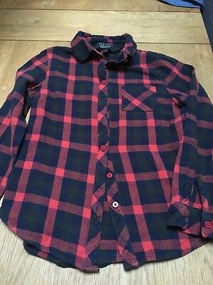 Girls Checked Shirt Age 9