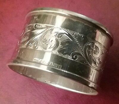 Hallmarked Silver Napkin Ring Blank Cartouch