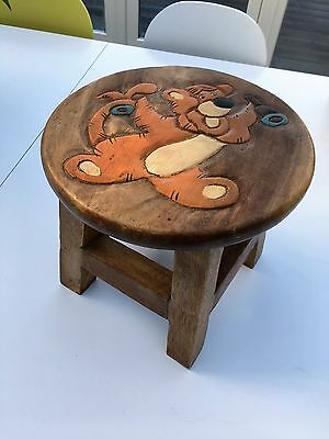 Pair of Childrens Wooden Stools
