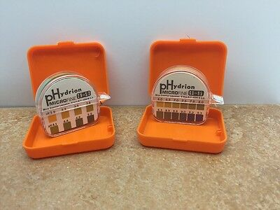 PH test Strips Lot Of two Micro Essential Laboratory plus dispensers & cases