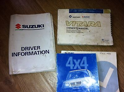 Suzuki Vitara Mk 1 Owners  Manual / Handbook / Wallet 1991 - 1998