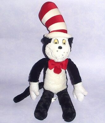 "DR SEUSS - THE CAT IN THE HAT 24"" LARGE BEANIE Soft Plush Doll Universal Studios"