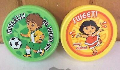 (2) Nickelodeon Fun Ice Dora Diego Lunch Box Reusable Ice Packs ~ New