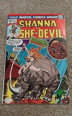 Shanna The She-Devil #4 High Grade Vf Ross Andru Art (1973) Marvel