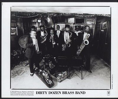 1989 Dirty Dozen Brass Band New Orleans Columbia Records Publicity Press Photo