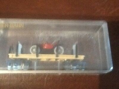 Egger bahn red car wagon  Rare boxed  Reduced from £60 to  £50.00