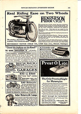 Henderson antique motorcycle advertising